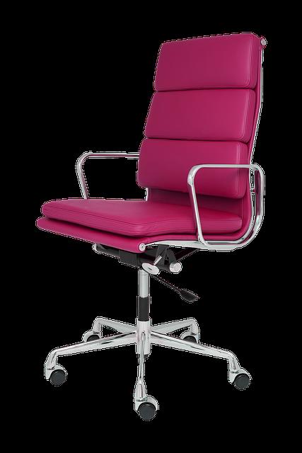 Krzesła biurowe powinny mieć ruchomą podstawę, aby unikać podnoszenia ciężkiego krzesła w celu przestawienia go.