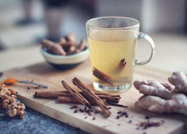 Herbata imbirowa na wzmocnienie odporności.